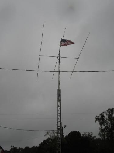 AJARC mobile tower with triband beam.